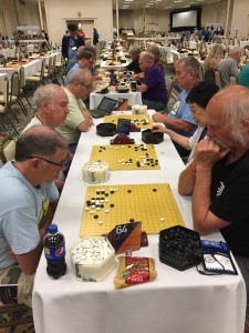 Two tables of the Seniors' Tournament