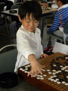 6-year-old Eric Yang played a confident game